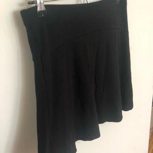Black Loft skater skirt